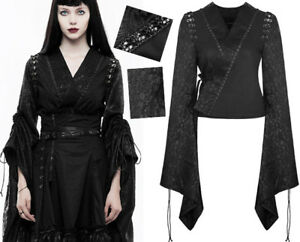 Geisha Punkrave Lolita Veste Haut Punk Transformable Gothique Kimono Jacquard WYO7qpw6