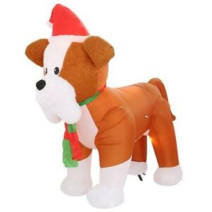 image is loading airblown inflatable fuzzy french bulldog christmas holiday yard