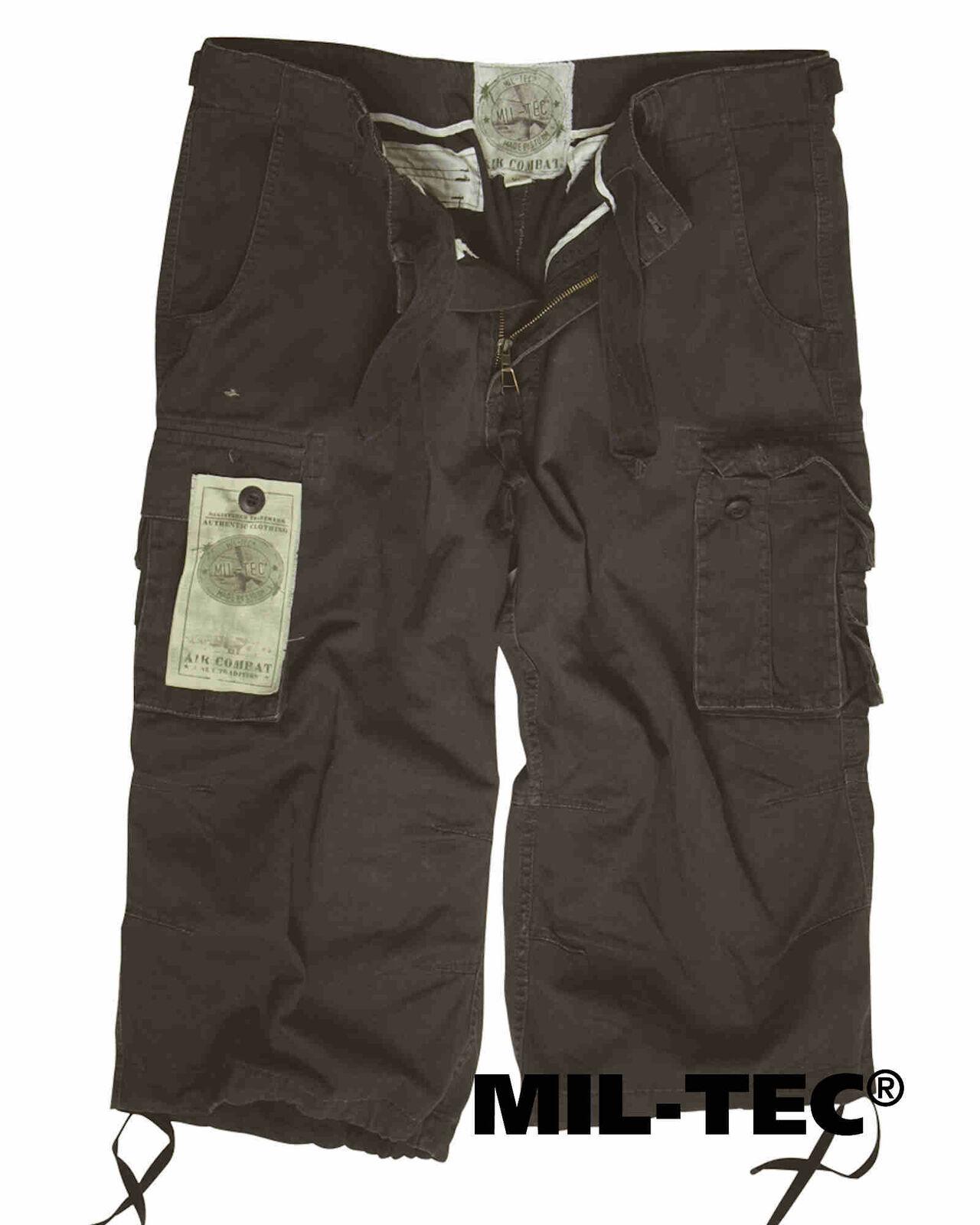 Mil-Tec AIR COMBAT 3 4-PANTS PREWASH black 3 4 Hose
