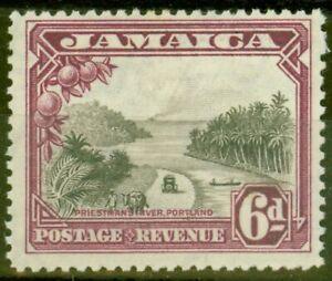 Jamaica 1932 6d Grey-Black & Purple SG113 Fine Mtd Mint