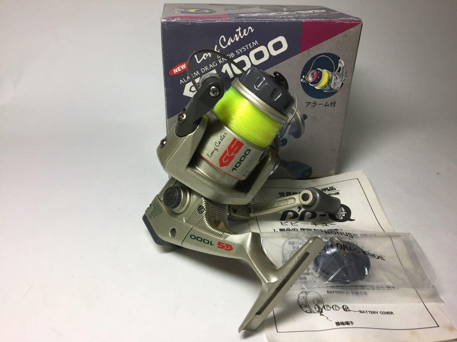 Long Caster GS1000 PP-Q Spinning Reels Alarm Drag Knob System