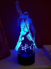 Freddie Mercury of Queen Acrylic Engraved LED lamp