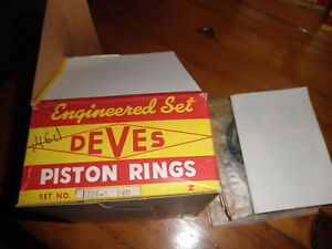 NOS-Swedish-Deves-1226-1-040-3-Groove-Piston-Ring-Set-4-whole-eng-MG-MGA-1600cc