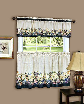 Antique Floral™ Kitchen Curtain Tier and Valance Set By Achim Importing Co.®