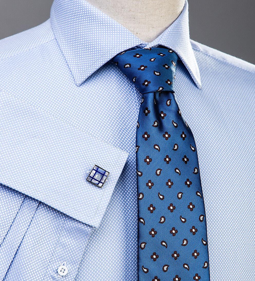 Light bluee Marcella Formal Dress Business Shirt Super Fine Luxury Sexy Pattern