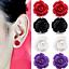 Paar-Rosen-Ohrringe-Ohrstecker-Bluete-Blume-Rose-Farben-rot-lila-weiss-schwarz Indexbild 1