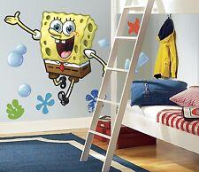 SPONGEBOB SQUAREPANTS BiG WALL DECAL Giant Nickelodeon Stickers Bedroom Mural