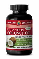 Pure Premium Organic - EXTRA VIRGIN COCONUT OIL 3000MG - Reduces Wrinkles - 1Bot