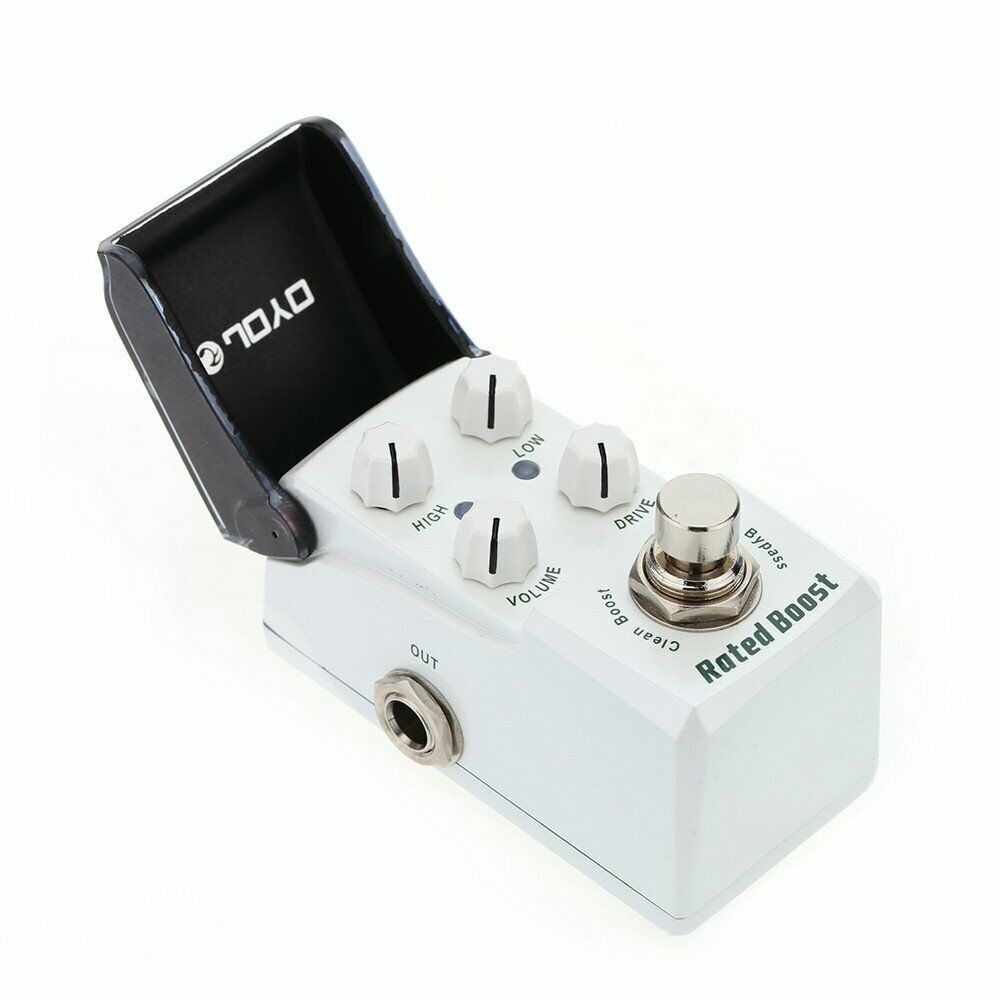 JOYO JF-301 Rated Boost Electric Guitar Effect Pedal w Knob Guard +Clean Booster