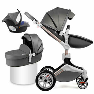 3 in 1 Baby Stroller travel high view Bassinet Combo newborn Pushchair car seat