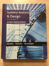 Systems Analysis And Design With Uml By David Tegarden Alan Dennis And Barbara Haley Wixom 2012 Hardcover For Sale Online Ebay
