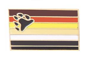 International Bear Brotherhood LGBTQ+ Gay Pride Gold Plated Pin Badge