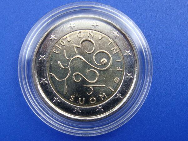 """2 Euros Commémorative """" Finlande 2013 150 Ans Du Parlement """" Sous Capsule DernièRe Technologie"""