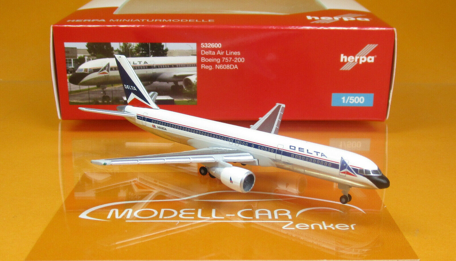 Herpa Wings 532600 Delta Air Lines Boeing 757-200 Scale Scale Scale 1 500 a2712e
