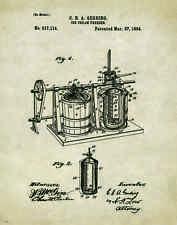 Ice Cream Patent Poster Art Print Museum Vintage Scoops Parlor Cones  PAT194