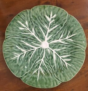 NEW-2-MAXCERA-GREEN-CABBAGE-LEAF-SHAPE-DINNER-PLATES-FALL-HOME-DECOR