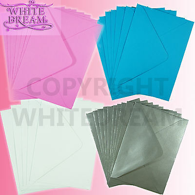 100gsm Premium Thickness 50 7 x 5 White Envelopes for Greetings Cards 184mm x 133mm FREE POST