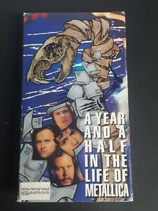 METALLICA-A-Year-And-A-Half-In-The-Life-Of-Part-1-VHS-1992-Elektra-OOP-Tape