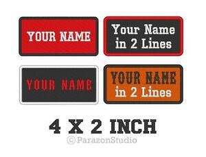 Custom-Embroidered-Name-Tag-Sew-on-Patch-Motorcycle-Biker-Badge-4-034-X-2-034-A