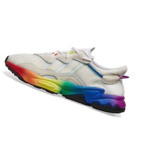 ADIDAS-MENS-Shoes-Ozweego-Pride-Off-White-Blue-amp-Black-EG1076
