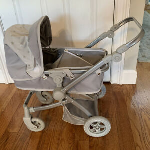 Pottery Barn Doll Stroller Grey Color Everything Works Ebay