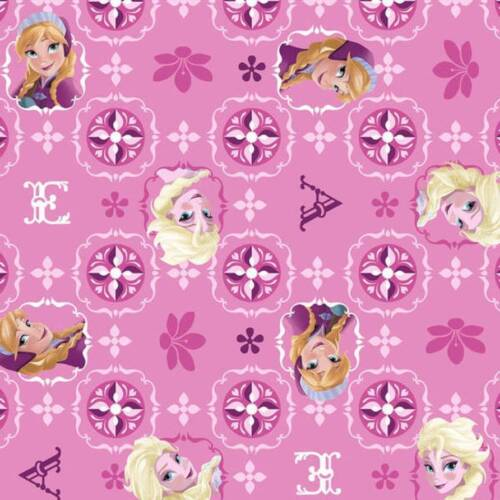Disney Frozen Collection ~ Elsa /& Ana Patch with Glitter ~  1//2 yard