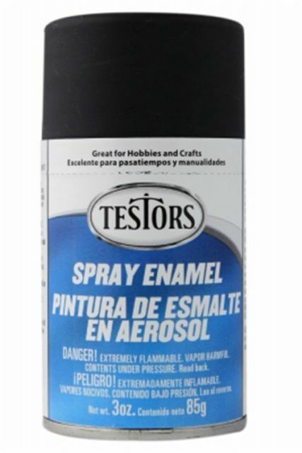 Testors Flat Black Mate Enamel Spray Paint Can 3 Oz 1249 Ebay