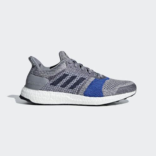 Adidas B37697 hombres Ultra Boost St Running Zapatos Zapatillas gris blancoo