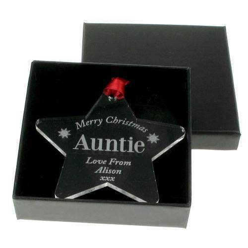 Personalised Gift Ideas Aunt Auntie Aunty Clear Acrylic Keepsake Present Star