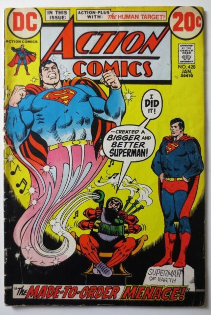 Action Comics #420 (Jan 1973 DC) (C5083) The Human Target - Made to Order Menace