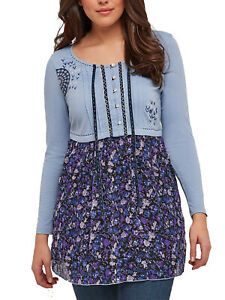 Joe-Browns-ladies-tunic-top-blouse-plus-size-14-16-20-32-blue-magical-floral