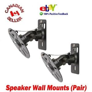 Pair-of-Speaker-Wall-Mount-Bracket-All-Metal-Max-Load-15-kgs-33-Lbs