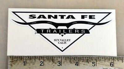 Vintage Santa Fe Trailers RV sticker decal