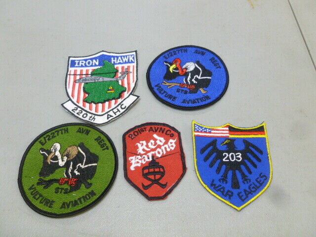 5 Assorted Military Patches Lot 505