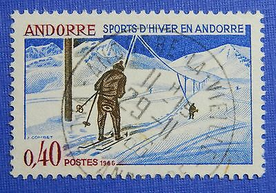Strong-Willed 1966 Andorra French 40c Scott# 170 Michel # 196 Used Cs29182 Grade Products According To Quality Europe