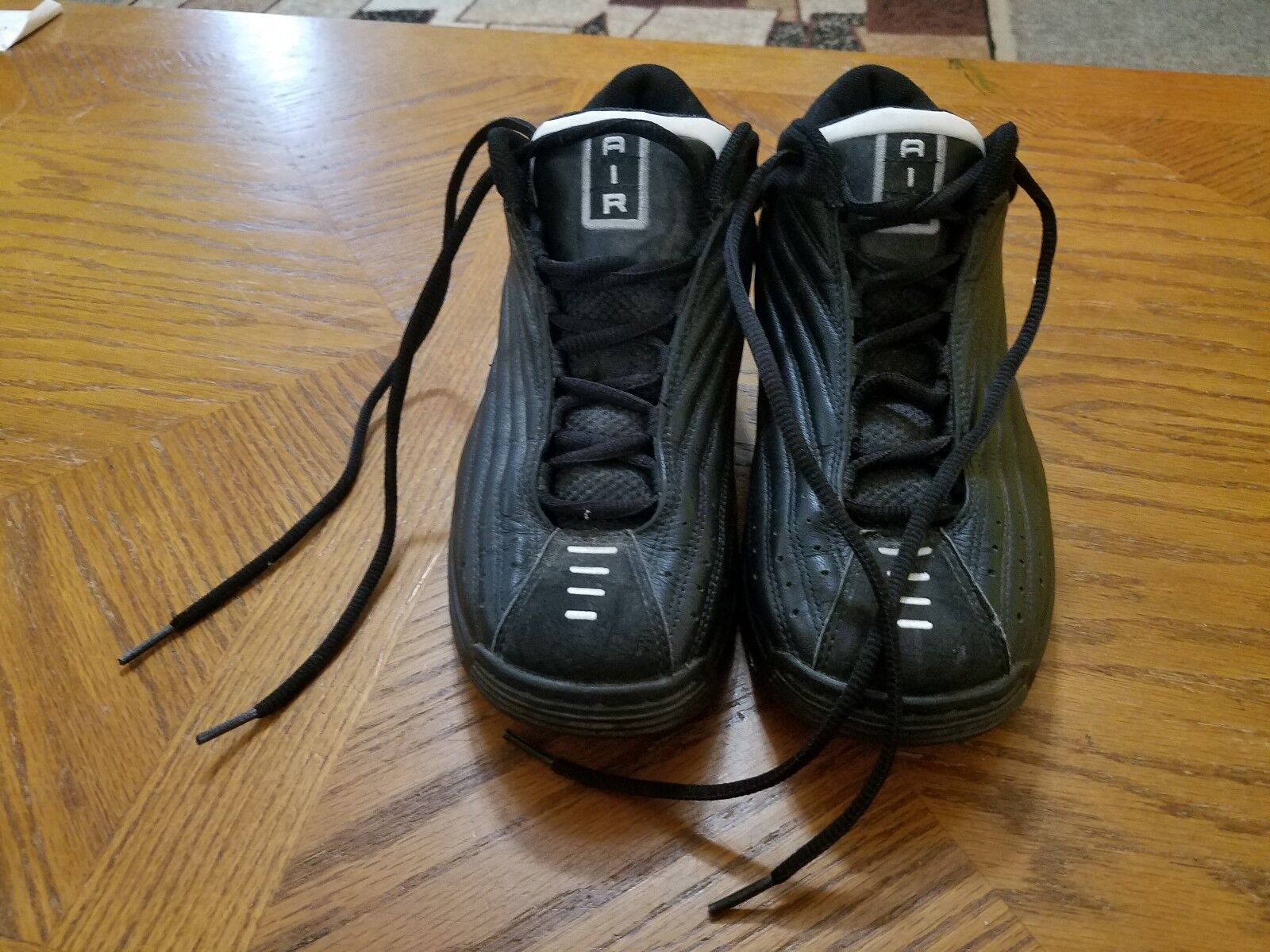 Nike 830251 Air Dura Mid Basketball Shoes Black Sneakers Men's Size 8 2001 VTG
