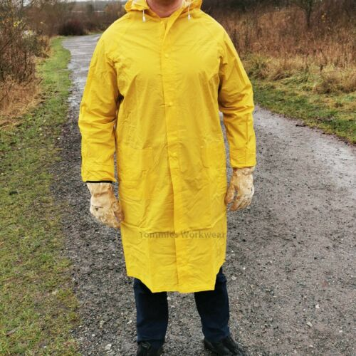 Delta Plus Outdoor Waterproof Long Rain Jacket Mac Storm Coat Work Wear MA305