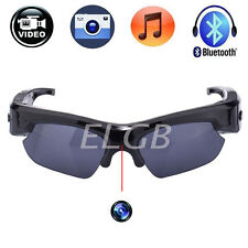 Spy HD 1080P Bluetooth Sunglasses Camera USB Pen Camcorder Glasses Headset DVR