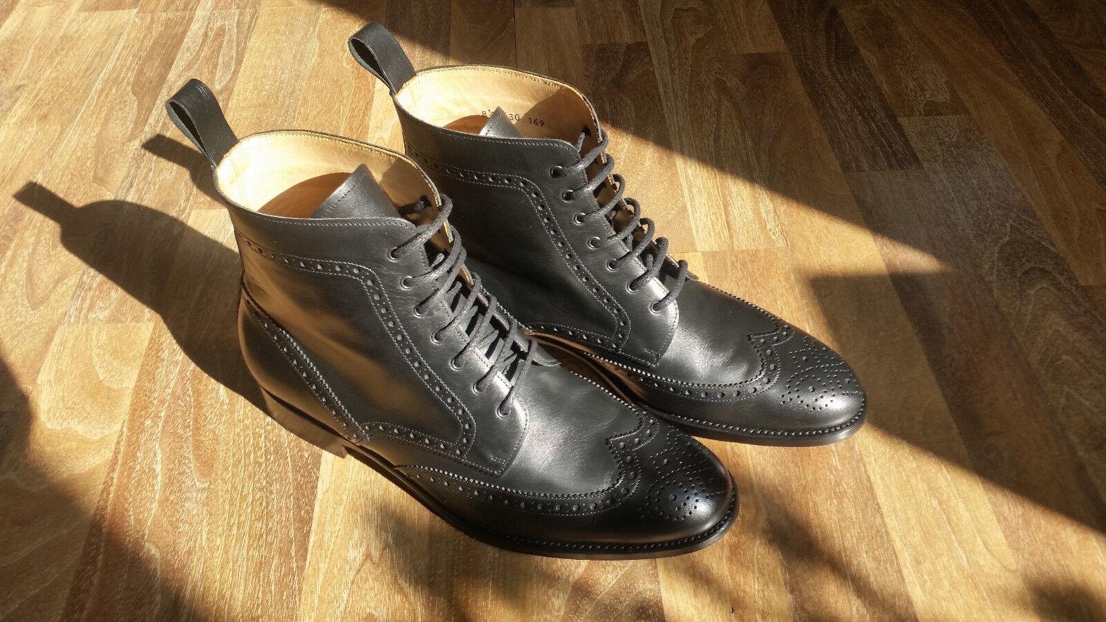 Schuhepassion Stiefel/Stiefelette; schwarz; Brogue; 8,5; gebraucht, jedoch fast neu