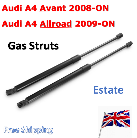 REAR TAILGATE BOOT TRUNK GAS STRUTS SUPPORT FOR AUDI A4 AVANT ESTATE 2008-2015