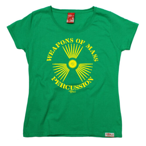 Weapons of Mass Percussion Womens Banned Member T-shirt anniversaire Drums pleneras