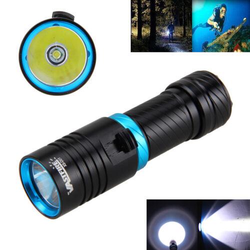 Red//Black Waterproof XM-L T6 LED 10000LM Scuba Diving Flashlight Hiking Torch l
