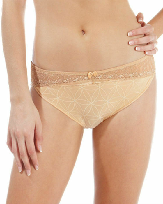 Brand New Panache Lingerie Emily Thong 6109 Nude Various Sizes