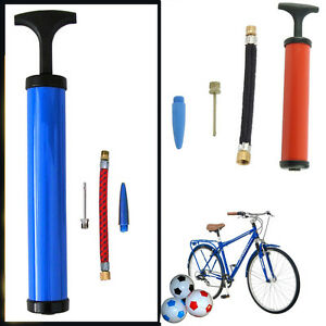 New-T-Handle-Bicycle-Pump-Inflating-Cycle-Tyres-Air-Bed-Sport-Balls-Toys-Pumps