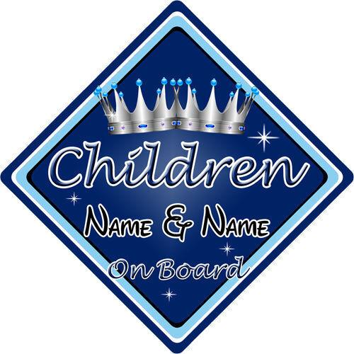 Personalizado De Niño//Bebé A Bordo Coche Firmar ~ niños a bordo ~ D Azul