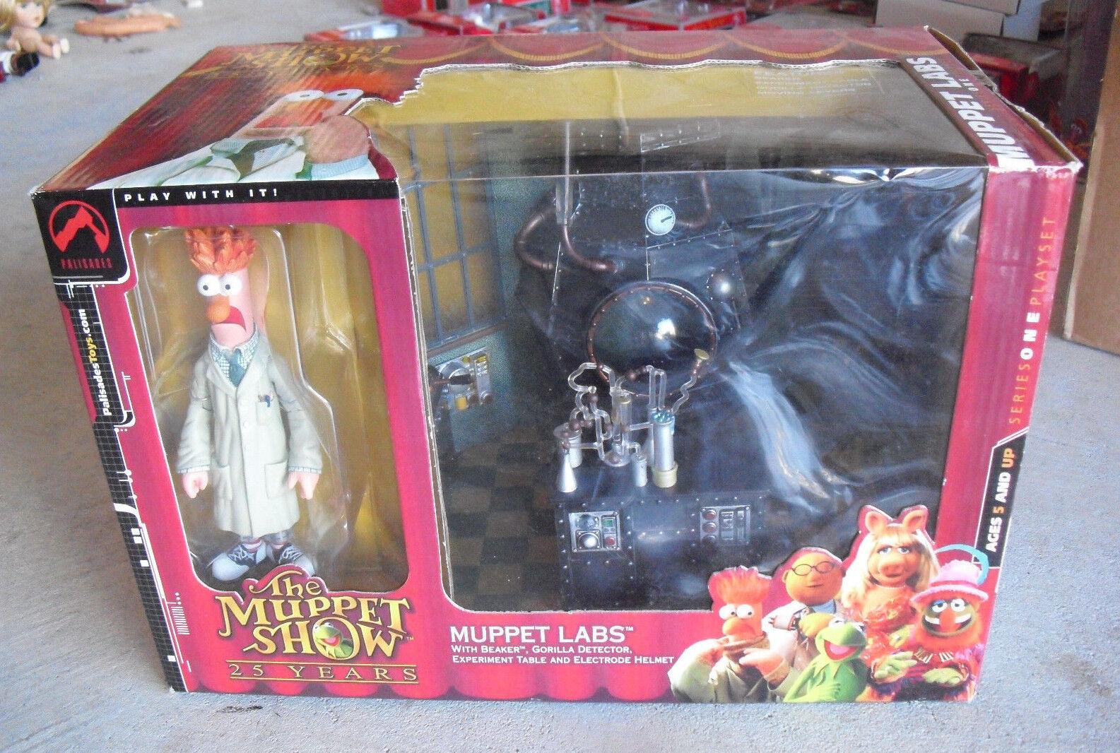 RARE 2002 Palisades Muppet Show Muppet Labs Series 1 Beaker Playset NIB LOOK