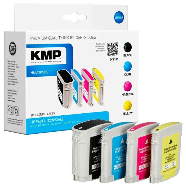 KMP H71V schwarz, cyan, magenta, gelb Tintenpatrone ersetzt HP 940XL