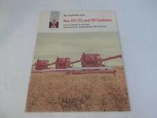 Ih Mccormick Nos 101 151 181 Combines Sales Brochure