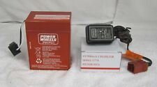 Power Wheels 00801-0712  6V RED Battery And Charger Pack Fisher Price Genuine