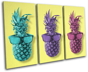 Pineapple-Glasses-Cool-Food-Kitchen-TREBLE-CANVAS-WALL-ART-Picture-Print